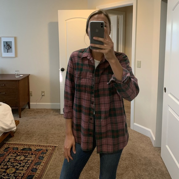 Madewell Tops - Madewell Classic ExBoyfriend Flannel in Nona Plaid
